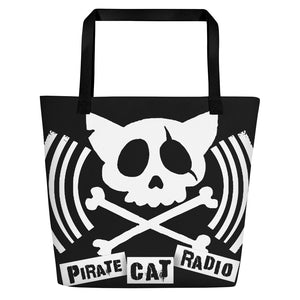 Pirate Cat Radio Beach Bag