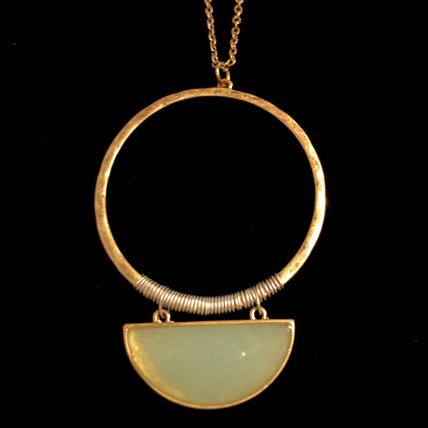 Quartz & Brass Necklace