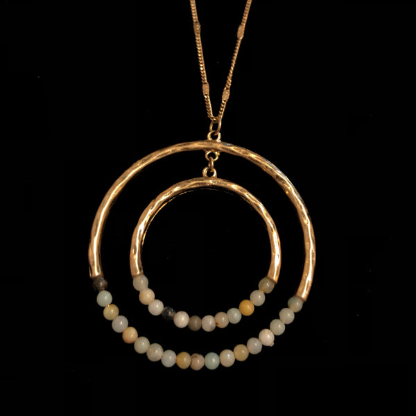 Beaded Circles Necklace