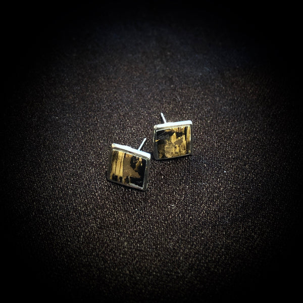 Square Small Studs - Black