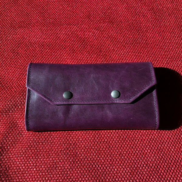 The Large Wallet - Aubergine