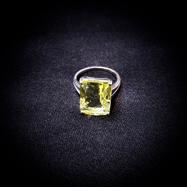 Radiant Citrine Ring