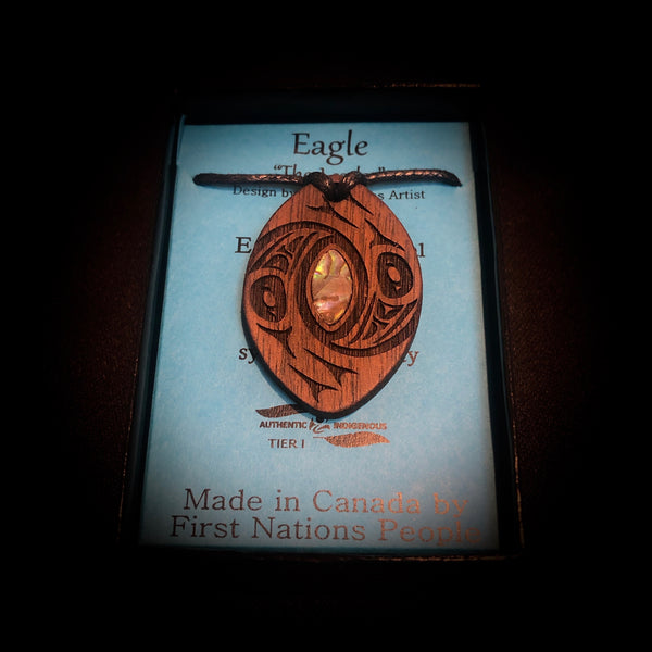 Eagle - Wooden Pendant