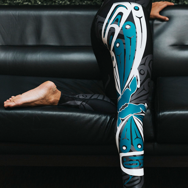 Teal Butterfly design . We have the largest selection of NoMiNoU Athleisure in Vancouver.