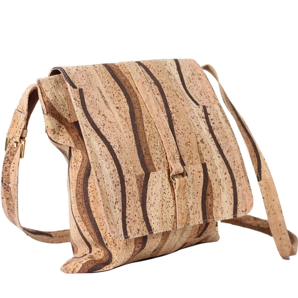 Cork Crossbody Book Bag