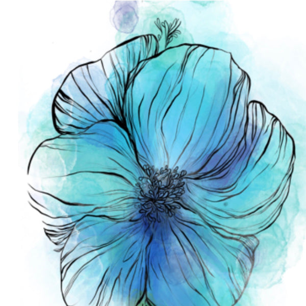 Single Blue Flower