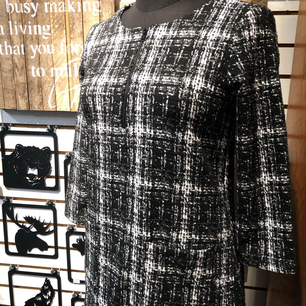 Textured Plaid Shaped Tunic