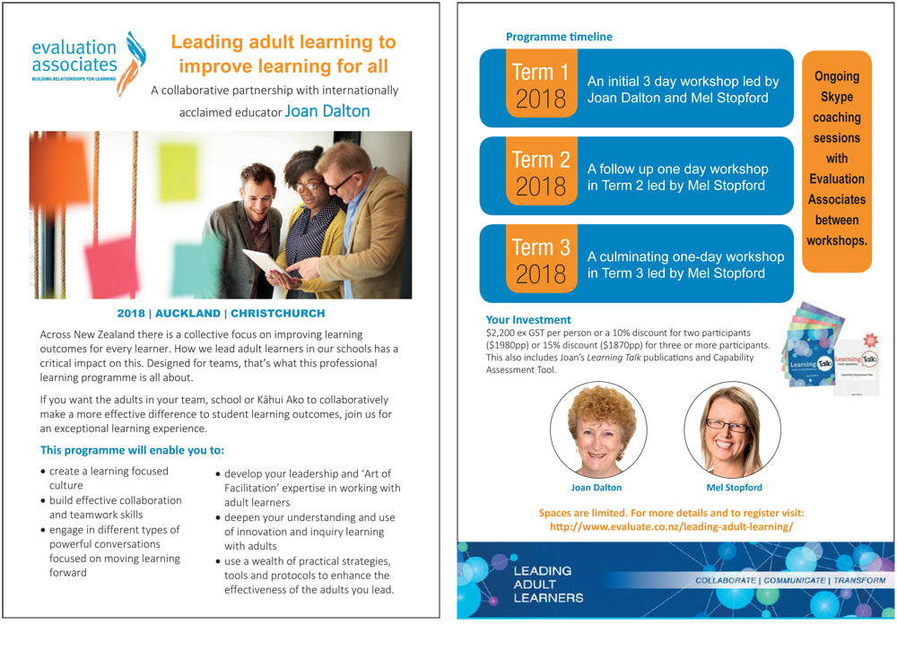 Leading adult learning to improve learning for all