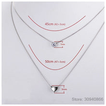 Load image into Gallery viewer, 100% 925 Sterling Silver Double Layers Necklace