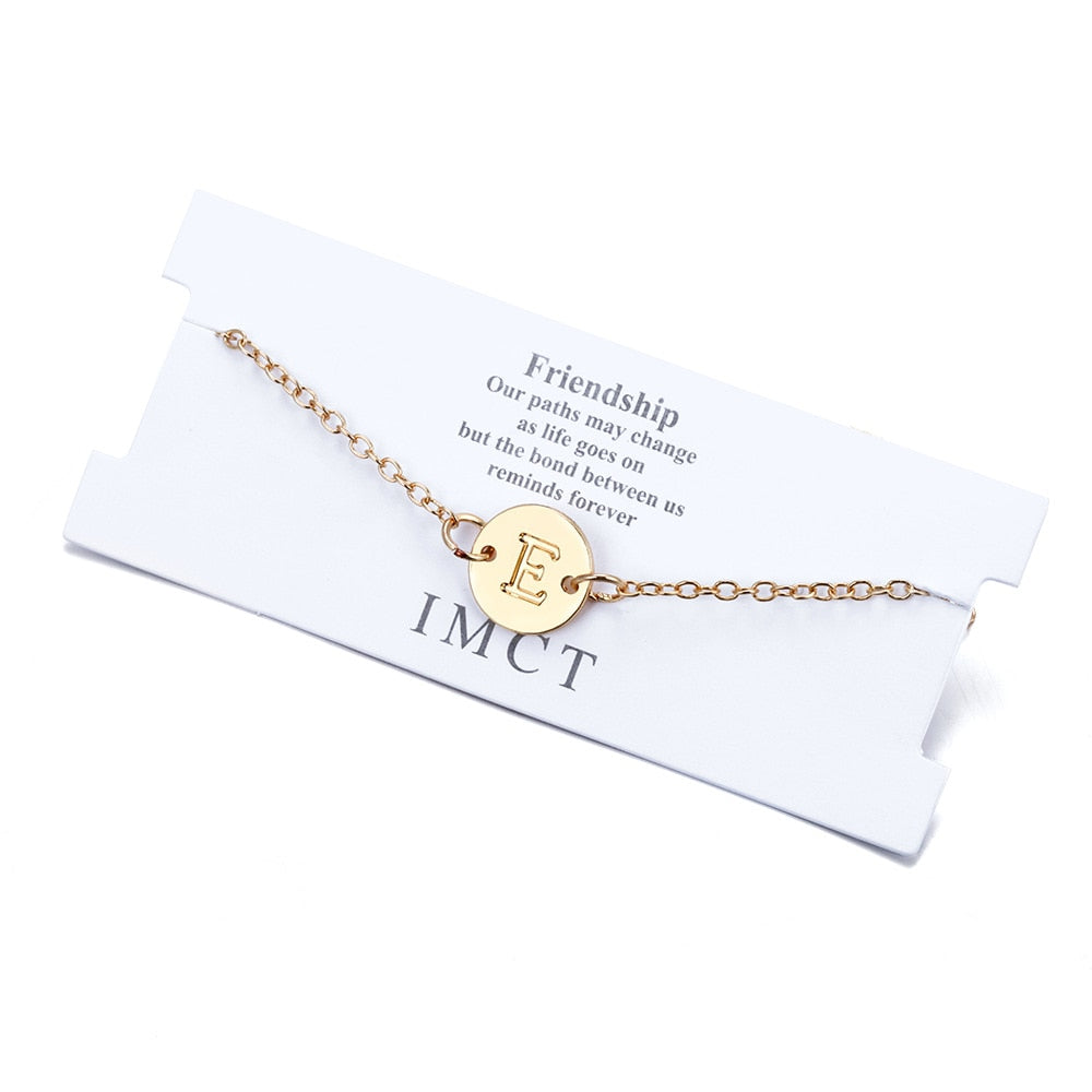 Adjustable Name Bracelet For Best Friends