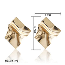 Load image into Gallery viewer, Square Stud Earrings