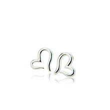 Load image into Gallery viewer, 100% 925 Sterling Silver Heart Earrings