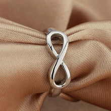 Load image into Gallery viewer, 100% 925 Sterling Silver Charm Infinity Ring