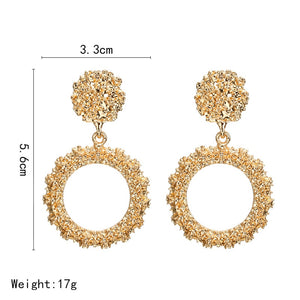 European Design Drop Round Earrings