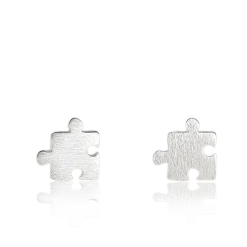 100% 925 Sterling Silver Puzzle Earrings