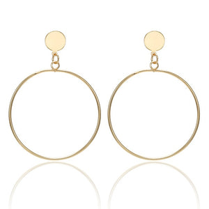 Big Dangle Hoop Earrings