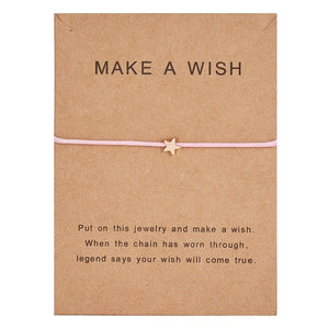 """Make a Wish"" Adjustable Charm Bracelet"
