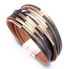 Load image into Gallery viewer, Multilayer Leather Charm Bracelets