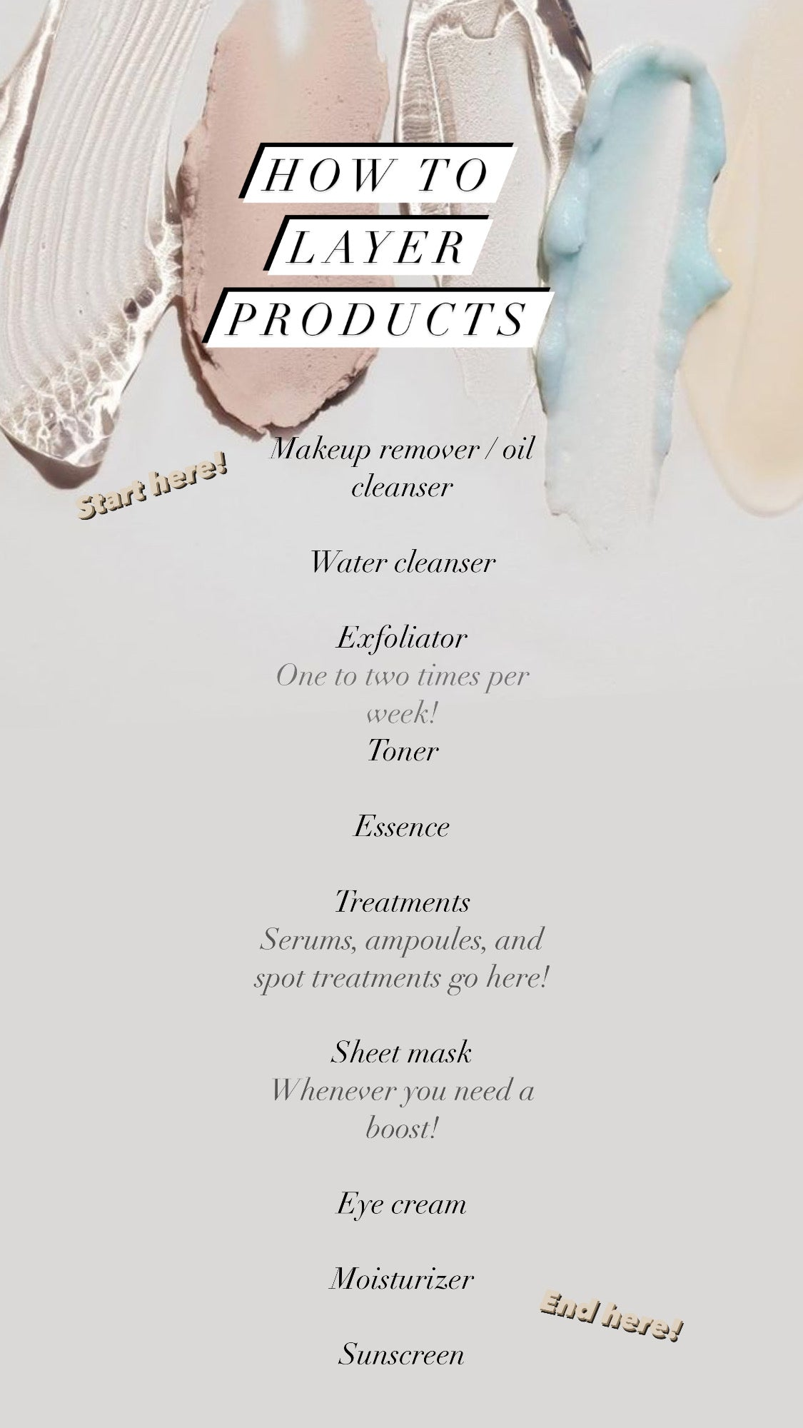How to layer products the right way - The Magic Glow Co.