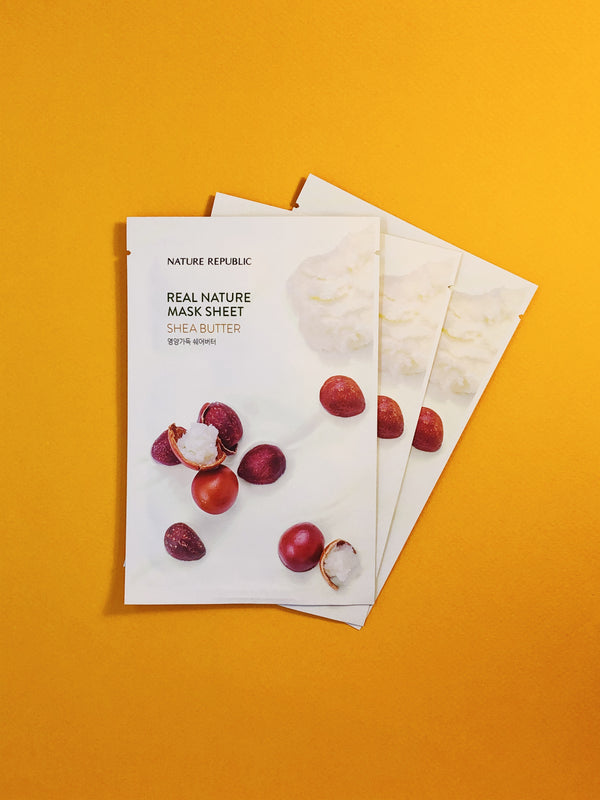 Nature Republic Real Nature Mask Sheet #Shea Butter - The Magic Glow Co