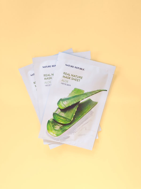 Nature Republic Real Nature Mask Sheet #Aloe - The Magic Glow Co.