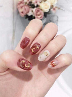 Silver & Gold Metal Moon & Star Rivets 3D Nail Art Decoration | The Magic Glow Co.