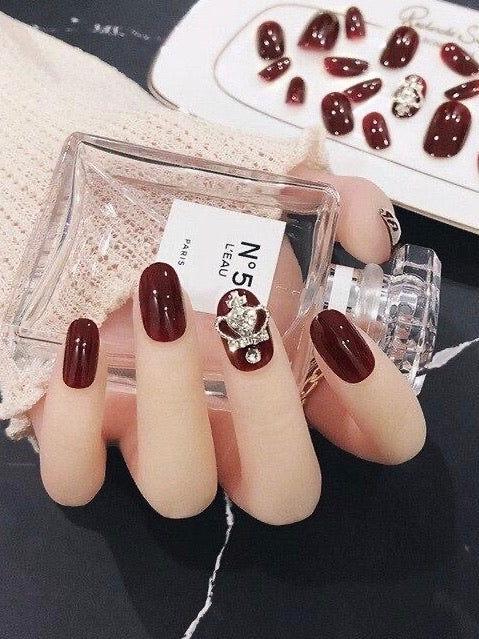 Rhinestone Design Artificial Press-on Nails