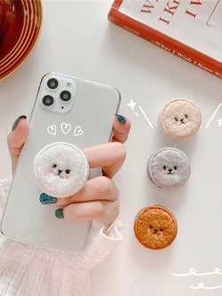 Plush Teddy Phones Holder Grip Stand For iPhone | Popsocket - The Magic Glow Co.