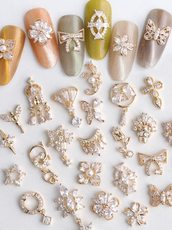 Zircon Crystal Rhinestones Nail Charms | Nail Decoration | The Magic Glow Co.  Edit alt text