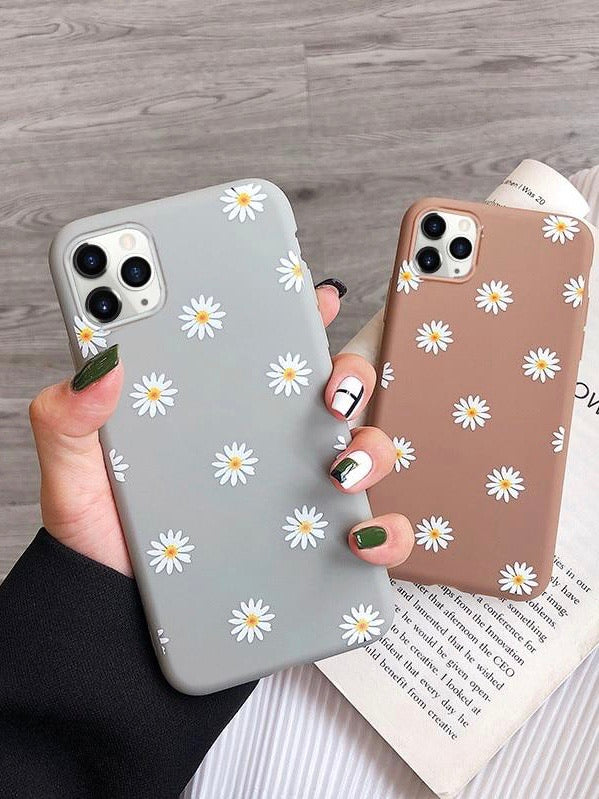 Art Floral Daisy Phone Case For iPhone - The Magic Glow Co.
