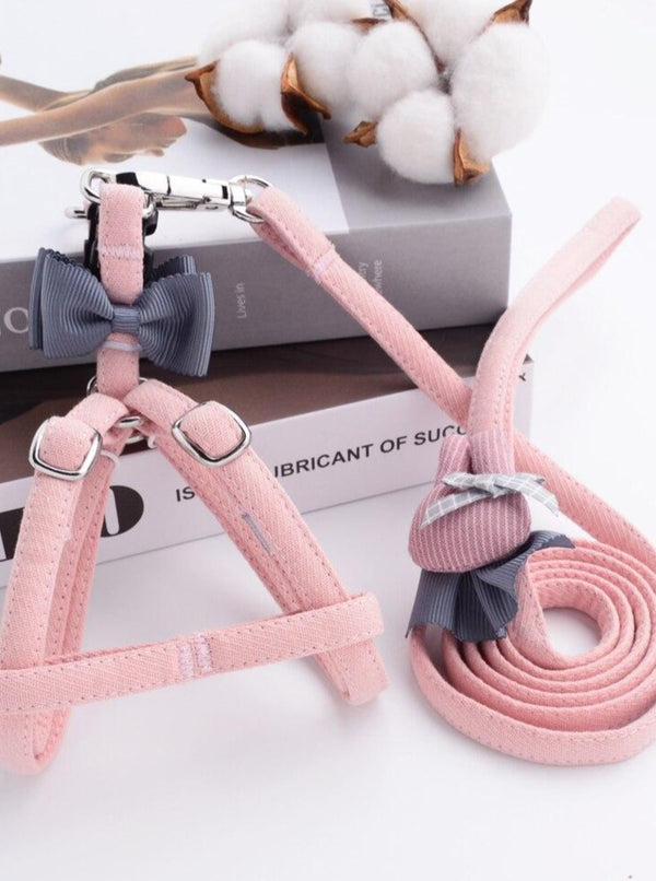 Luxury Cute Dog Harnesses And Leashes Set - The Magic Glow Co.