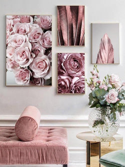 Rose Flower & Nordic Style Wall Art | Gallery Wall - The Magic Glow Co.