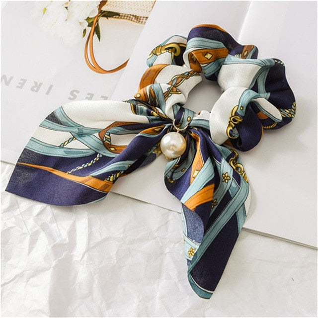 Chiffon Bowknot Silky Scrunchies - The Magic Glow Co.