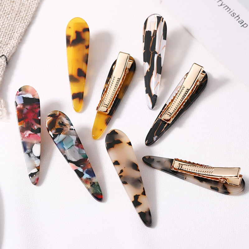 Leopard Print Acetate Geometric Hair Clip - The Magic Glow Co.