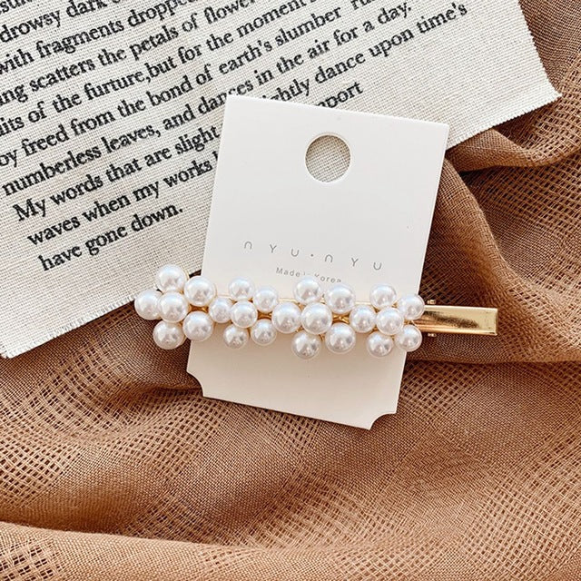 Pearl Metal Hair clips Women Hair Clip - The Magic Glow Co.