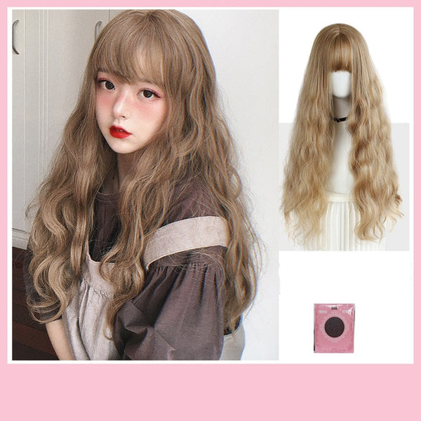 Long Water Wave With Bangs Wig - The Magic Glow Co.