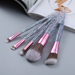 Glittery Makeup Brush Set - The Magic Glow Co.