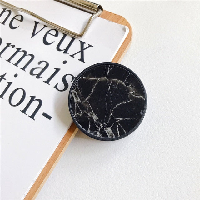 Glossy Marble Expanding Phone Stand Grip Phone Holder - The Magic Glow Co.