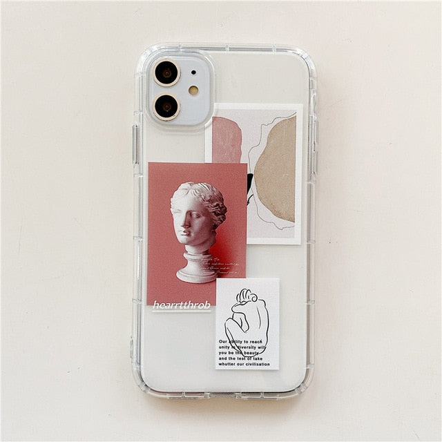 Vintage Statue & Quotes iPhone Case - The Magic Glow Co.