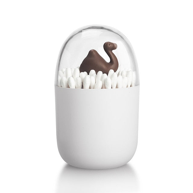 Creative Animal Tree Toothpicks Holder Cotton Swab Box Cotton Bud Holder Case Home Table Decor Plastic Storage Box Organizer