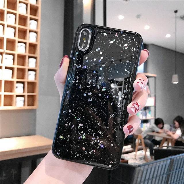 Glitter Star & Moon Universe Phone Case For iPhone - The Magic Glow Co.