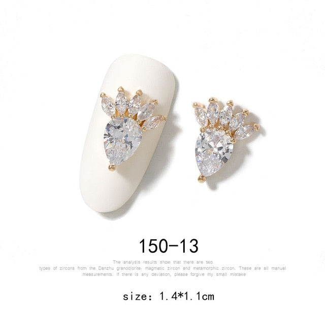 3D Alloy Nail Art Made Of Zircon | Nail Charm - The Magic Glow Co.