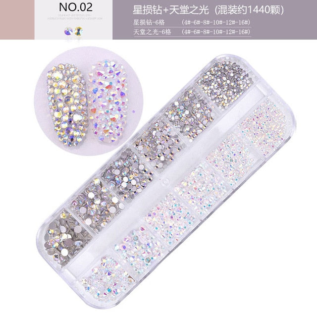 Crystal Rhinestone 3D Nail Art Decoration | The Magic Glow Co.