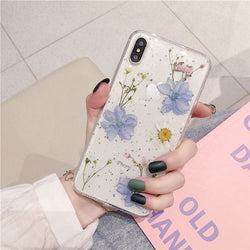 Real Dried Flowers Phone Case For iPhone - The Magic Glow Co.
