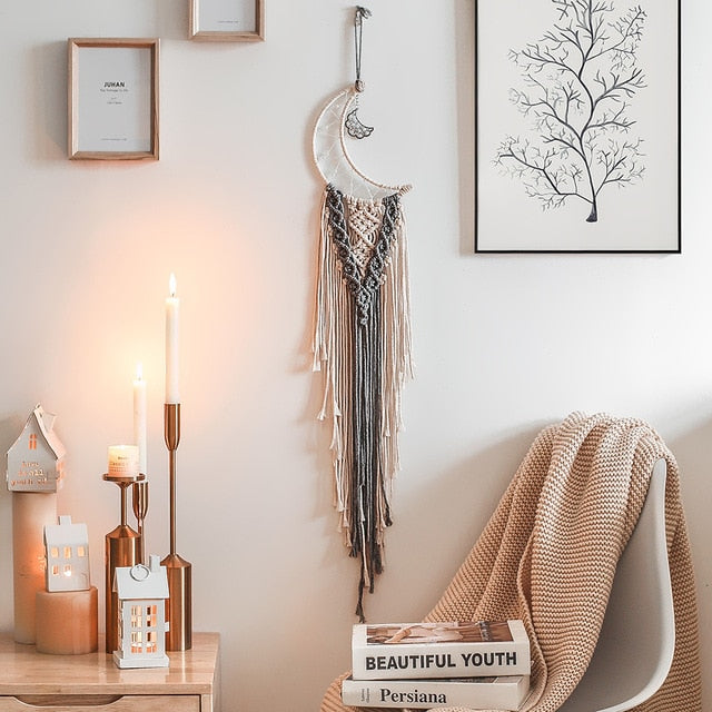 Bohemian Chic Macrame Wall Decor | Dream Catcher - The Magic Glow Co.