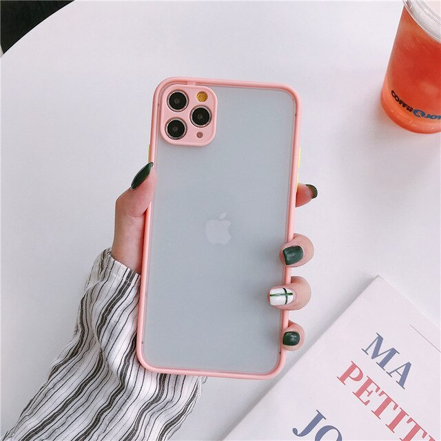 Camera Lens Protective Bumper Matte Transparent iPhone Case - The Magic Glow Co.