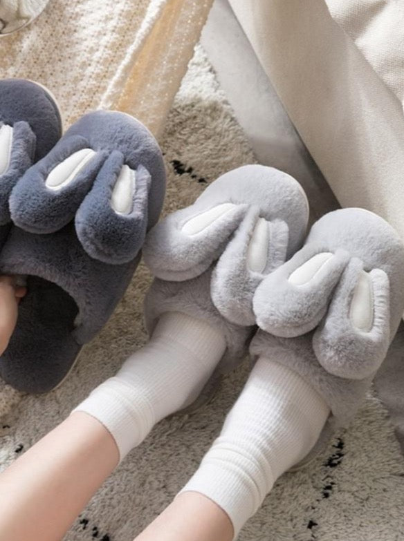 Cute Rabbit Warm Fur Slippers - The Magic Glow Co.