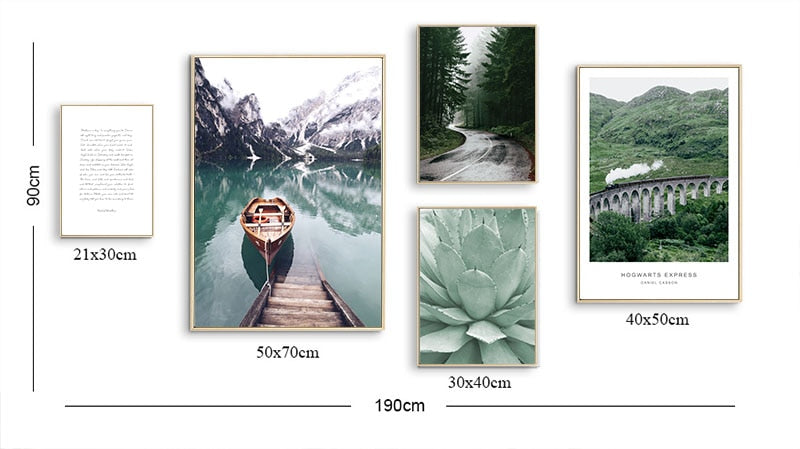 Scandinavian Nature Landscape Wall Art | Gallery Wall - The Magic Glow Co.