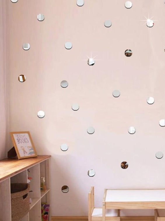 Mini 3D Acrylic Mirror Wall Stickers | The Magic Glow Co.