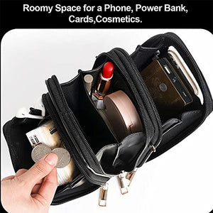 Multi-Compartment Phone Purse With Clear Window